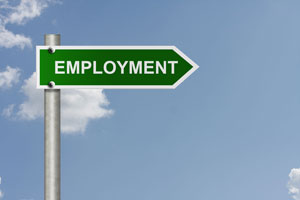 employment sign small